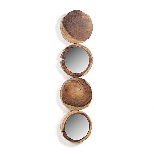 Kave Home spiegel van massief hout