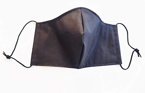Mundschutz Schutzmaske aus Stoff, schwarz, Spezialgummi Länge anpassbar, sofort lieferbar aus Deutschland