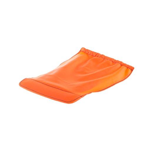 Cache di protezione rimovibile impermeabile utilizzabile su casco pieghevole plixi per bicicletta, Monopattino elettrico, Overboard, gyroroue, gyropode, Skateboard, Roller, VAE–Protegge dal freddo e la pioggia–colore arancione–Taglia L-XL
