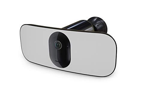 Arlo Pro3 Floodlight WLAN Überwachungskamera | Smart Home, kabellos, 2K UHD, Innen/Außen, Farbnachtsicht, LED Flutlicht, 160° Blickwinkel, 2-Wege-Audio, Bewegungsmelder, eingebaute Sirene, FB1001B