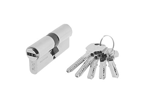 Yale, YL63535HN, Cilindro de Seguridad, YL6, Leva Larga, Llave - Llave, Niquelado, 35 x 35 mm