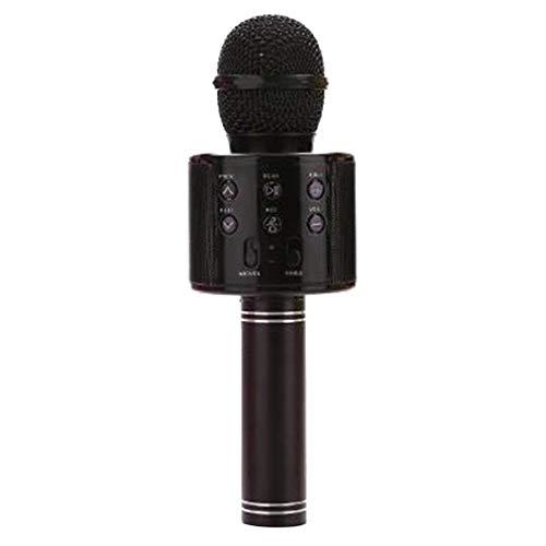 Ktv Inalámbrico Karaoke Micrófono De Mano Reproductor USB Micrófono Altavoz Fiesta En Casa Negro
