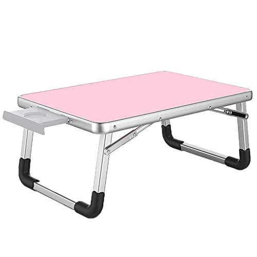 Pkfinrd De Laptoptafel op het bed is opvouwbaar, en de verschillende maten zijn verkrijgbaar in een milieuvriendelijke en dorloze studentenslaapzaal studietafel (kleur: PINK, afmeting: 60 * 40cm)