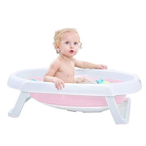 Badinstallation Badewanne Aufblasbare Badewanne Haushaltsbadewanne Klappbadewanne Tragbare Babybadewanne Große Kinderbadewanne (Color : Pink, Size : 72 * 45 * 17cm)