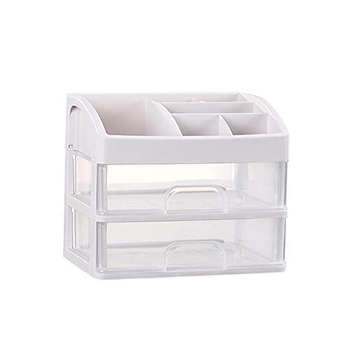 Almacenamiento de escritorio Nuevo 2/3 capas cepillo de maquillaje cajón de esmalte de uñas caja de almacenamiento de joyería estuche organizador herramientas cajón de almacenamiento (color: 2 capas)