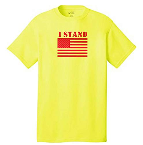 I Stand for The American Flag T-Shirt Fußball Kapernick Sucks USA Patriot Gr. XXL, gelb