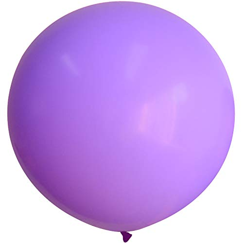 Neo LOONS 36 Inch Giant Latex Balloons, Standard Lavender Pink Round Balloons for Birthdays Weddings Receptions Festival Party Decoration, 5 Pcs