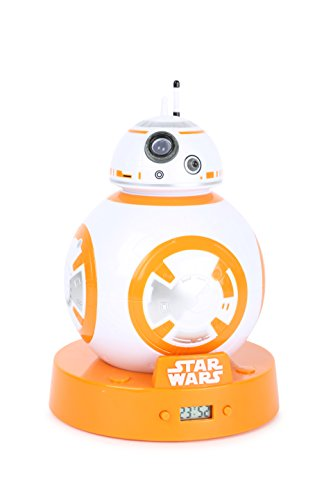 Joy Toy Star Wars - Reloj Despertador Digital con LCD y proyección BB-8