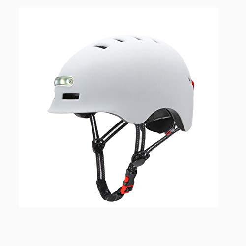 Casco de bicicleta eléctrica Bicicleta Equilibrio Scooter con iluminación delantera Luz de...