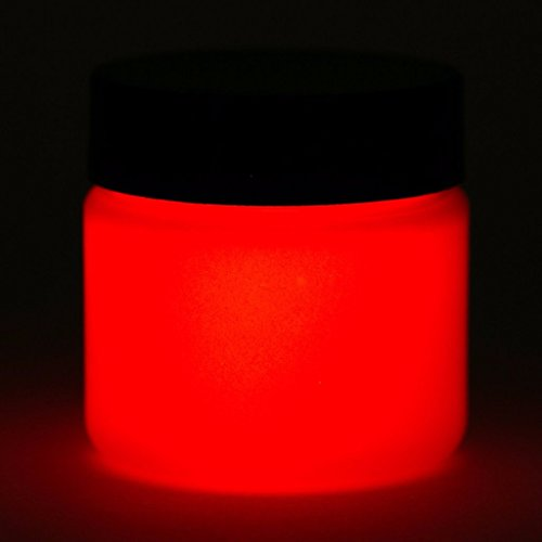 Glow In The Dark Paint - 1 Ounce (Daytime White/Glows Red) - 5+ Colors...