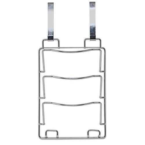 Maison & White Soporte para tapas y sartenes   Estante de almacenamiento colgante   Colgable en las puertas del armario de la cocina   Cromo