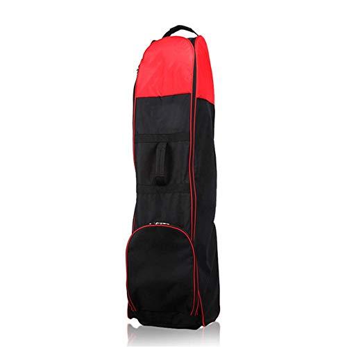 Dfghbn Golf Reisetasche Golf Bag Travel Cover Golf Travel Nylontasche mit Rad Golf Constrictor (Farbe : Red, Size : 130X34x32cm)