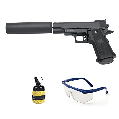 Pistola Galaxy G10A Metal (Muelle) | Pistola de Airsoft (Bolas de plástico 6mm) + maletín de PVC + biberón de munición