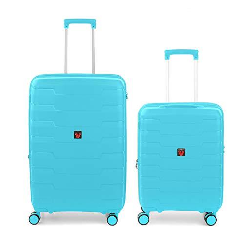 RONCATO Skyline - Juego de 2 maletas rígidas ampliables (medio + cabina) Annice