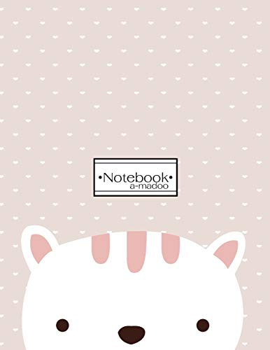 Notebook: Cute cat cover and Dot Graph Line Sketch pages, Extra large (8.5 x 11) inches, 110 pages, White paper, Sketch, Draw and Paint