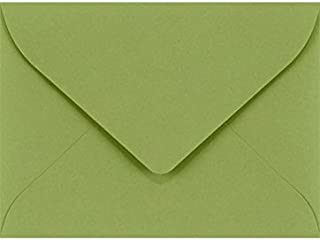 LUXPaper #17 Mini Envelopes in 70 lb. Avocado for 2 9/16 x 3 9/16 Cards, Printable Envelopes for Gift Cards and Thank You's, with Moistenable Glue, 50 Pack, Envelope Size 2 11/16 x 3 11/16 (Green)