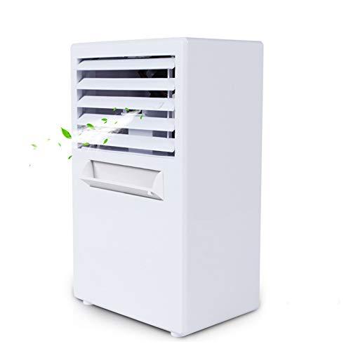 Tragbare Klimaanlage, Mini Cooler Air 3 in 1 Fan funktions- Air Staff, Luftbefeuchter und Luftreiniger Schalldämpfer für Schlafzimmer Office,Weiß