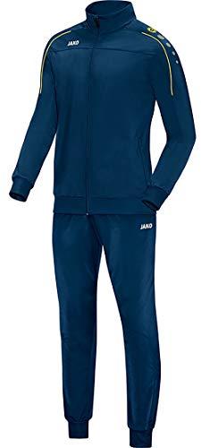 JAKO Herren Classico Trainingsanzug Polyester, Nightblue/Citro, M