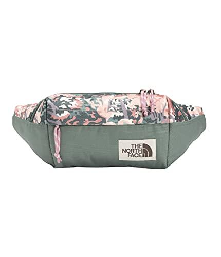 The North Face Lumbar Pack, Twilight Mauve Canvas Paint Texture Print/Balsam Green/Foxglove Lavender, OS