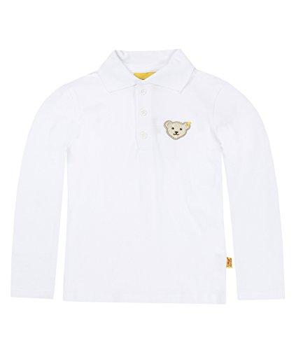 Steiff Unisex - Baby Poloshirt 0006831 1/1 Arm, Bright White, 86 (Herstellergröße: 86)