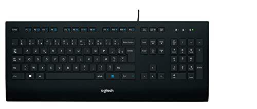 Logitech K280e Pro Kabelgebundene Business Tastatur für Windows, Linux und Chrome, USB-Anschluss, Handballenauflage, Spritzwassergeschützt, PC/Laptop, Französisches AZWERTY-Layout - schwarz