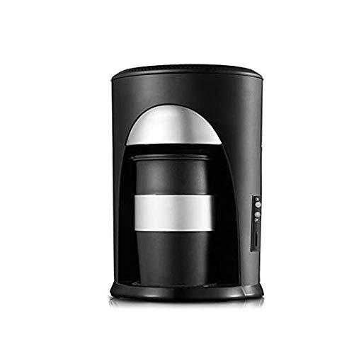 XYUN Kleine koffiemachine roestvrij staal automatische druppel huishoudkoffiepoeder 0,3 l / 1 kopje, zwart