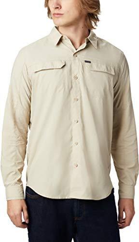Columbia Silver Ridge2.0 Long Sleeve Shirt' Chemise à Manches Longues Homme - Beige (Fossil) - XL