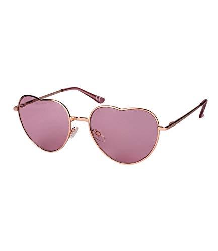 SIX Sonnenbrille mit pinken Gläsern in Herzform (324-539)