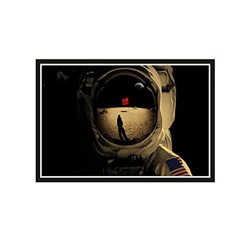 ZGHDHR Serie TV drammatica Americana di Fantascienza per Tutta l umanità Astronauta Spazio Paesaggio Poster su Tela Decorativa Vintage -60X80 CM Senza Cornice 1 pz
