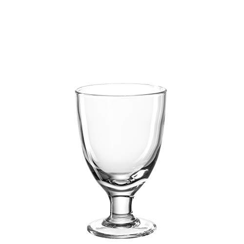 Leonardo Cucina Eis-Becher aus Glas, Schale auf Fuß, spülmaschinengeeignete Dessert-Schale, 6er Set, ∅ 100 mm, 020852