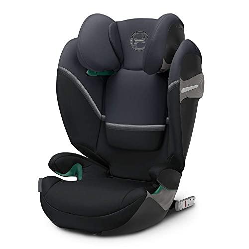 CYBEX Gold Kinder-Autositz Solution S i-Fix, Für Autos mit und ohne ISOFIX, 100 - 150 cm, Ab ca. 3 bis ca. 12 Jahre, Granite Black