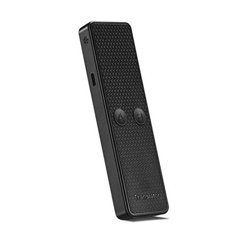 WZPG Rechargeable Portable Smart Voice Speech Translator, Two-Way Real Time 68 Multi-Language,Used for Business Trips and Meetings to Take Pictures,Black