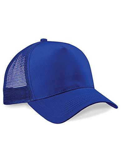 Beechfield Camionneur Casquette - Rétro Unisexe Engrener Été Base-Ball Chapeau - Bright Bleu Royal/Bright Bleu Royal