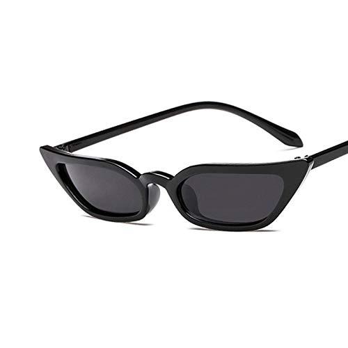 Gafas De Sol Gafas De Sol Pequeñas con Forma De Ojo De Gato Tinte Candy Coloridas Gafas Femeninas Gafas De Sol Moda Uv400 C1Black