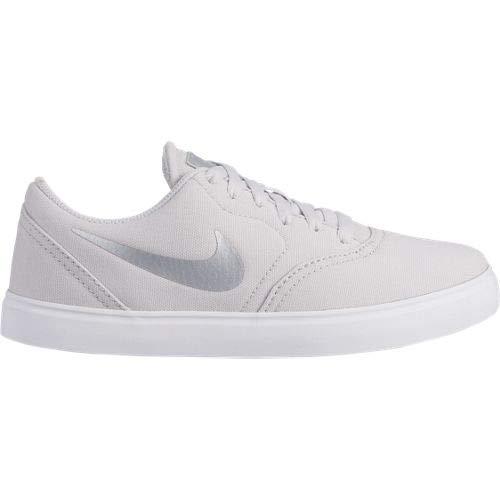 Nike SB Check Cnvs ESS+ (GS), Zapatillas de Deporte Niño, Multicolor (Vast Grey/White 001), 36.5 EU