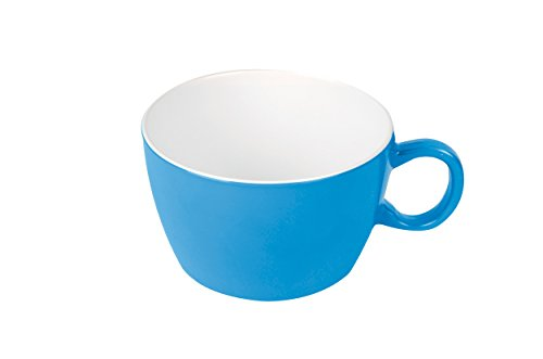 Bo-Camp - Bol à soupe - 100 % mélamine - Ø 10,5 cm - Deux tons bleu