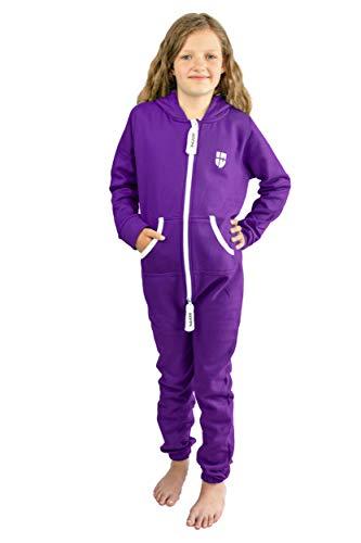 Gennadi Hoppe Kinder Jumpsuit Overall Jogger Trainingsanzug Mädchen Anzug Jungen Onesie,lila,12-13 Jahre