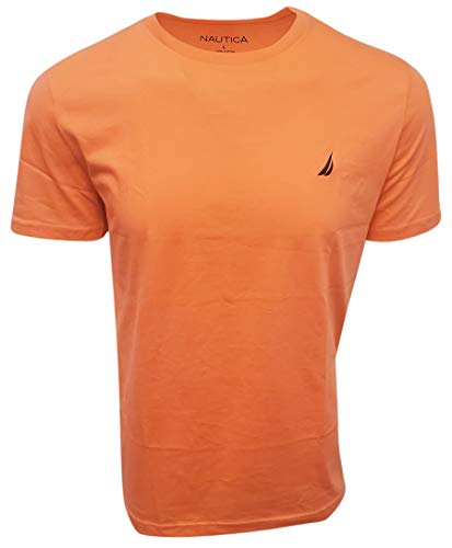 Nautica Men Short Sleeve Classic Crewneck Tee T-Shirt, Vibe Orange, X-Large