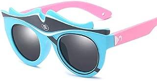 Sun Mirror Children Polarized Sunglasses Cartoon Baby Ornamental Silicone Sunshade Sunglasses Outdoor Glasses (Color : Yellow, Size : Free)