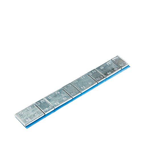 100x Poids autocollants jante en aluminium type 39860 argentés galvanisés non marqués | Poids d'équilibrage Jantes en aluminium