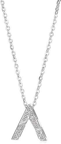 YOUZYHG co.,ltd Collar Elegante en Forma de V Invertida Colgante Mujer Carta Estilo Minimalista Conjunto de Collar Collar de Boda Regalo