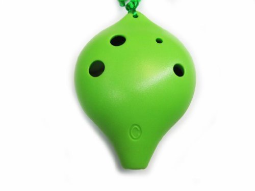 TNG オカリナ 6穴アルトC調 AC 樹脂プラスチックオカリナ 学校学生用耐衝撃型 強化改良型, 緑