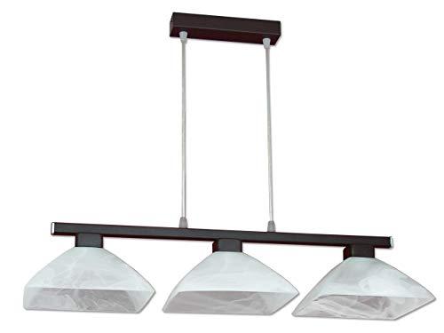 Suspension Bloom 225/3 - Lampe design - Abat-jour carré