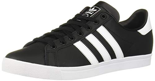 adidas Originals Men's Coast Star Sneaker, Black, White, Black, 12 Medium US