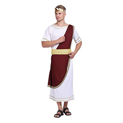 VALICLUD Csar Disfraz Hombres Disfraz de Halloween Traje Romano Emperador Cosplay Accesorios Mascarada Accesorios de Fiesta para Carnaval Fiesta de Halloween