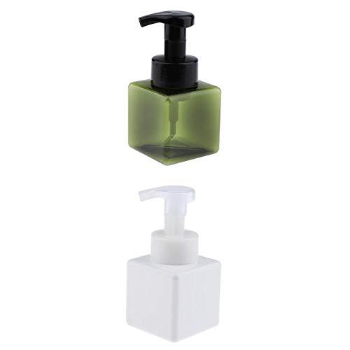Injoyo 250 Ml 2 Pcs Bouteille Pompe Buse Shampooing émulsion Lavage Presse Distributeur