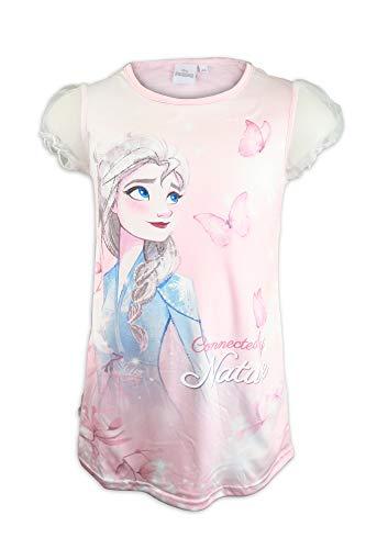 Disney Die Eiskönigin 2 Kurzes Nachthemd mit Ärmeln und Umhang aus Tüll abnehmbar - Mädchen - Original Lizenzprodukt 8 Jahre