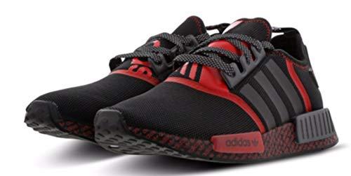Adidas Original NMD_R1 NMD R1 Turnschuhe für Herren FV8516, Schwarz - schwarz / rot - Größe: 44 EU