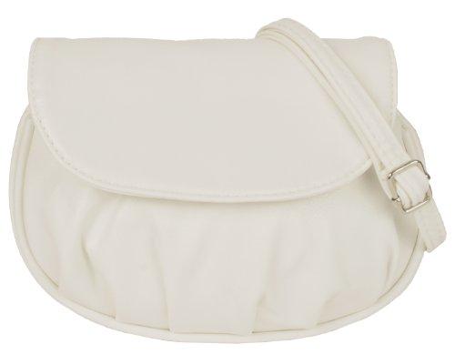 New Bags Schultertasche Abendtasche Umhängetasche Überschlagtasche S NB3041 Kunstleder 19cmx15cmx6cm (BxHxT) (Weiß)