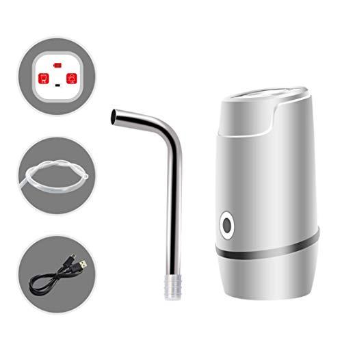 CNMGB USB wiederaufladbare Mineralwasserpumpe Saugwasserdruck Wasserspender Wasserspender Mineralwasserspender(White)